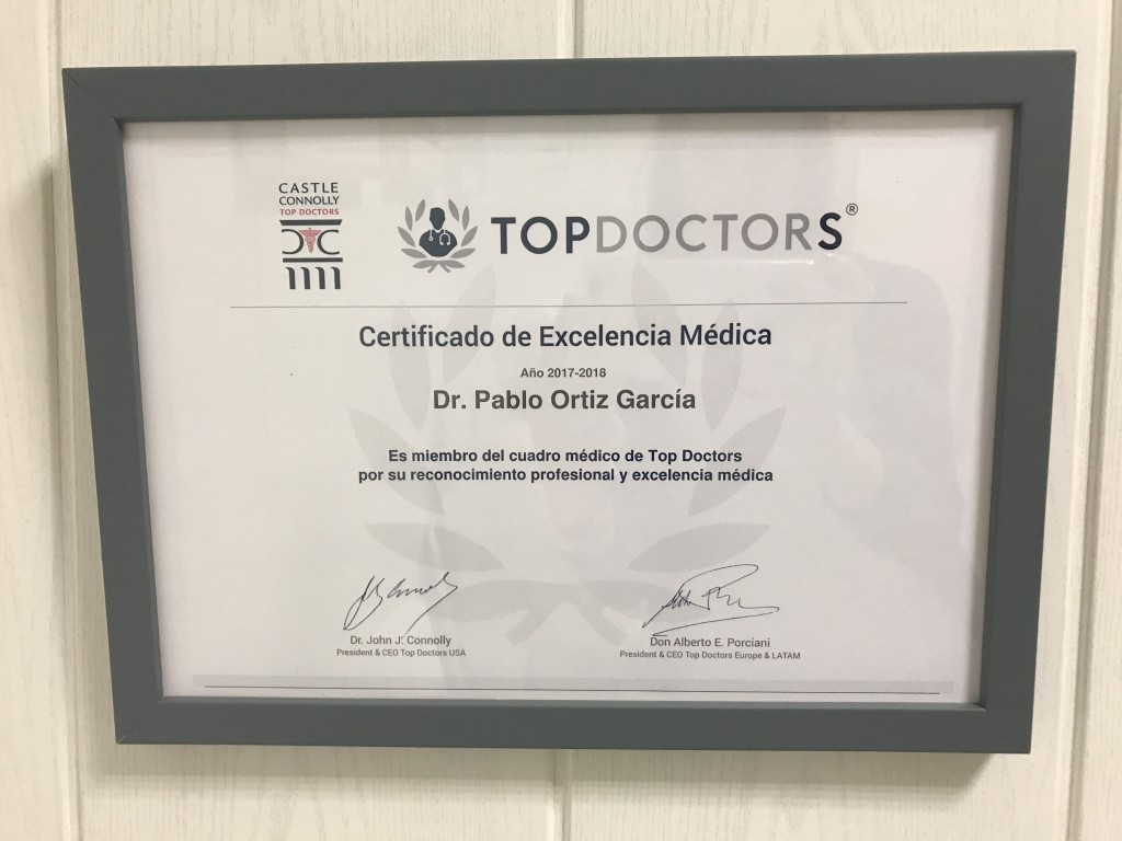 Certificado Top Doctors